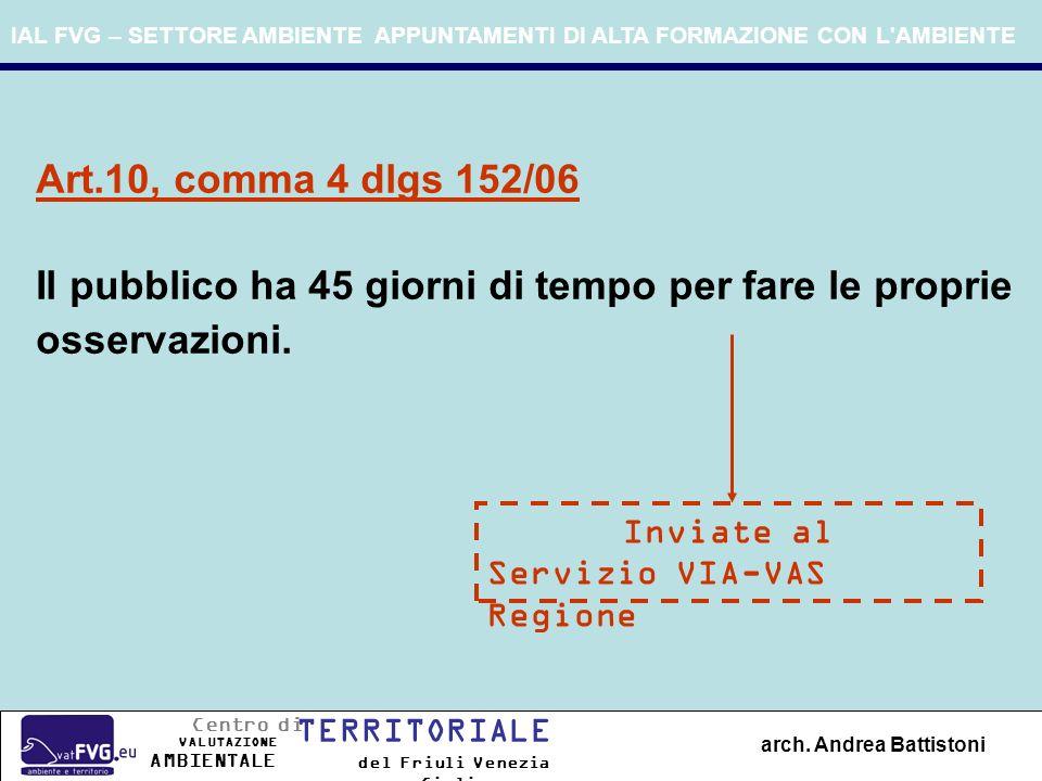 IAL FVG – SETTORE AMBIENTE APPUNTAMENTI DI ALTA FORMAZIONE CON L AMBIENTE arch.