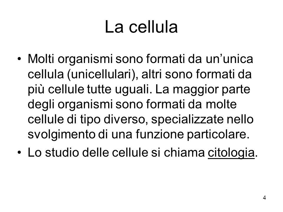 5 I tessuti Generalmente molte cellule dello stesso tipo sono associate per formare i tessuti.