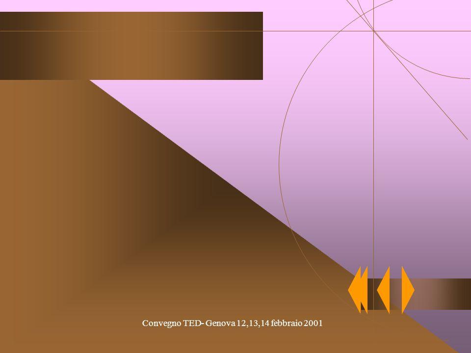 Convegno TED- Genova 12,13,14 febbraio 2001