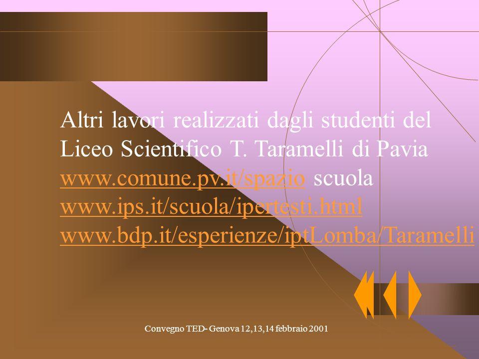 Altri lavori realizzati dagli studenti del Liceo Scientifico T.