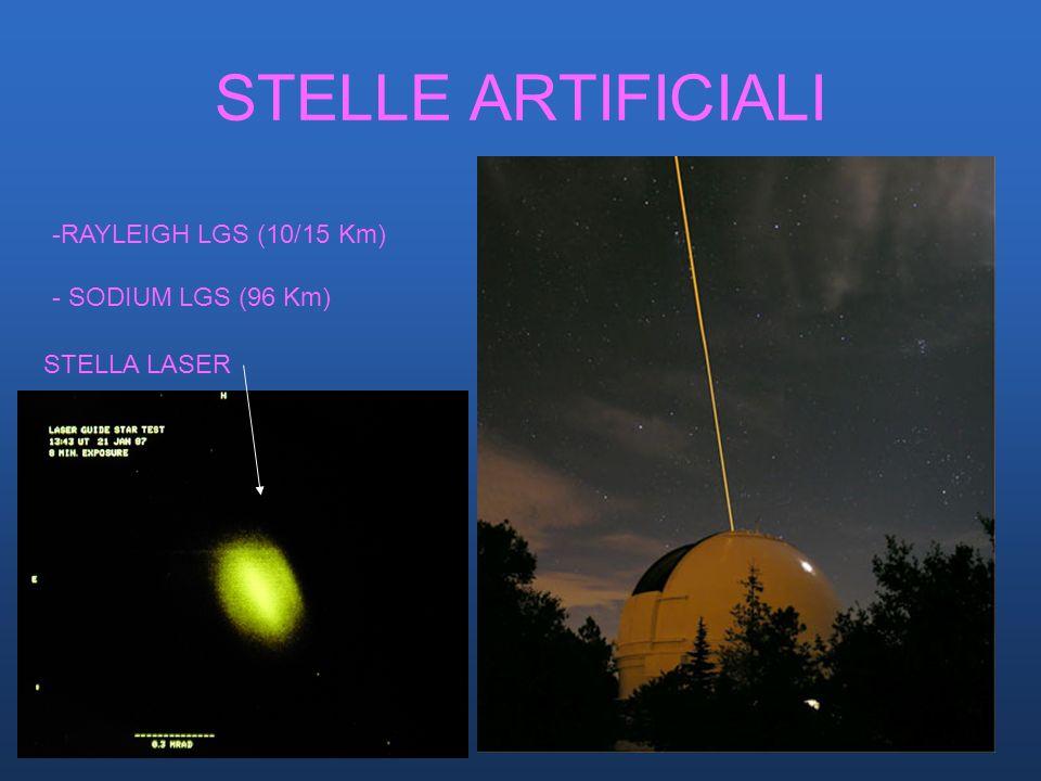 STELLE ARTIFICIALI -RAYLEIGH LGS (10/15 Km) - SODIUM LGS (96 Km) STELLA LASER