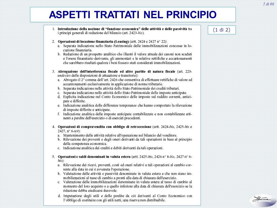 6 di 66 ASPETTI TRATTATI NEL PRINCIPIO (2 di 2)
