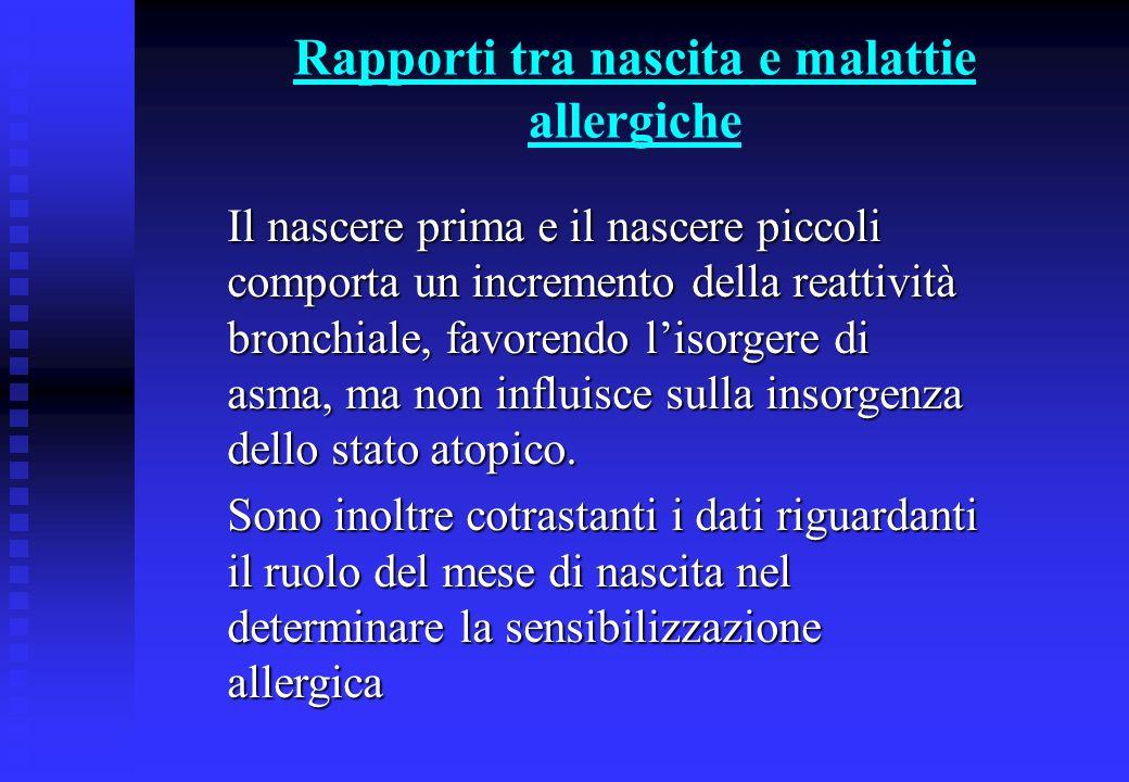 Fattori ambientali di rischio per lo sviluppo di malattie allergiche n Allergeni n Tipologia abitativa n Fumo n Inquinamento (indoor, outdoor) n Tipo di allattamento, dieta n Infezioni