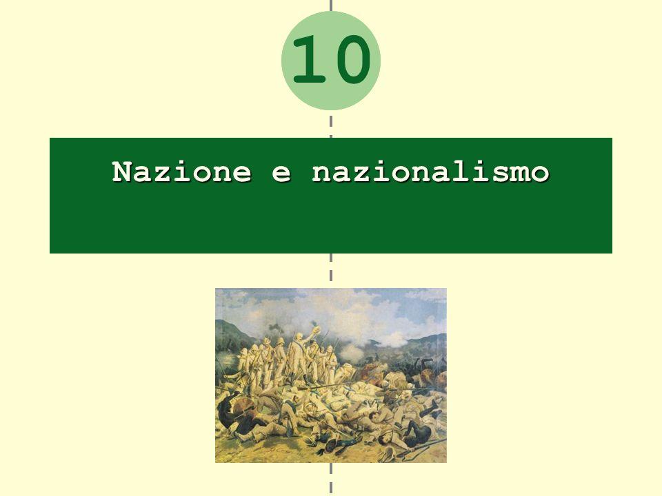 Nazione e nazionalismo «Una darme, di lingua daltare, di memoria, di sangue e di cor» (Manzoni, Marzo 1821) 1.
