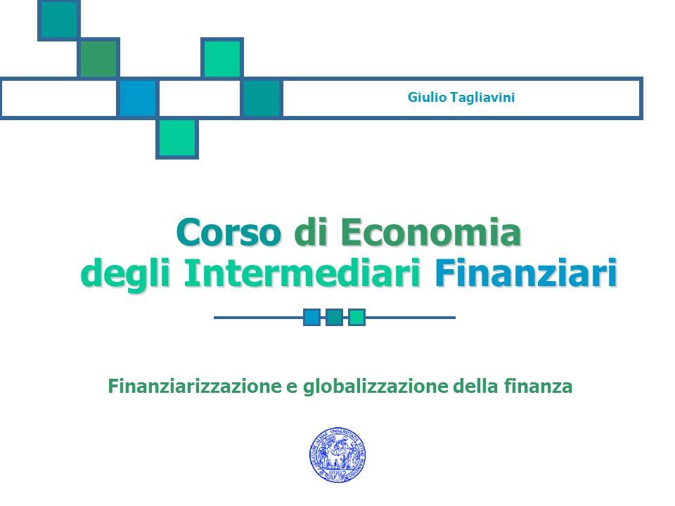 Finanziarizzazione delleconomia E un concetto complesso e non univoco: 1.