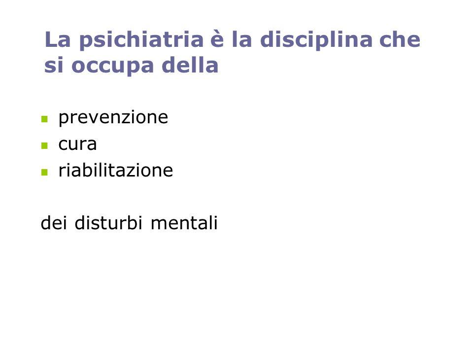 La psichiatria è una delle tante branche specialistiche della medicina È pertanto un fatto medico perché considera il funzionamento del cervello sotto un profilo biologico e lutilizzo degli psicofarmaci.