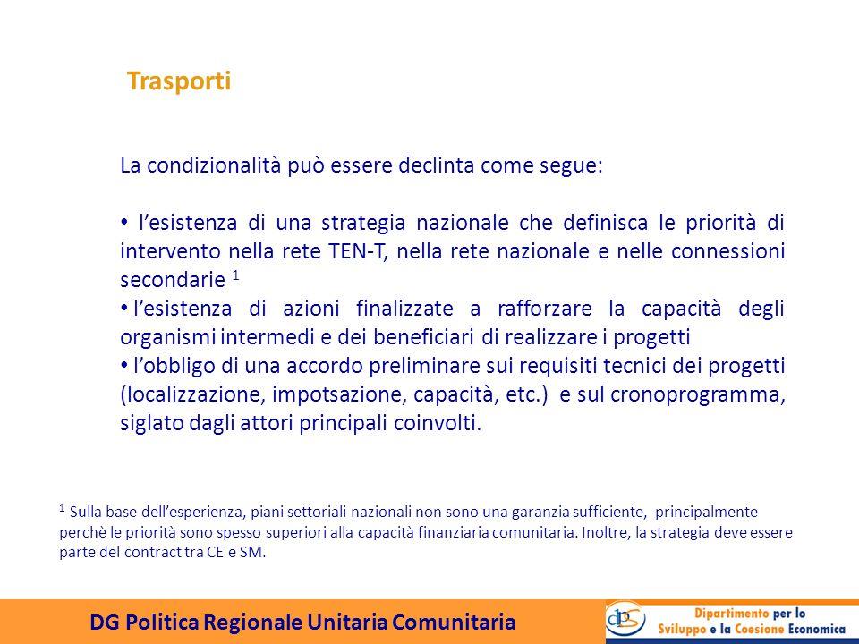DG Politica Regionale Unitaria Comunitaria Lesistenza di un piano di gestione è la condizione che assicura lefficacia degli interventi, e la possibilità di misurare adeguatamente I risultati.