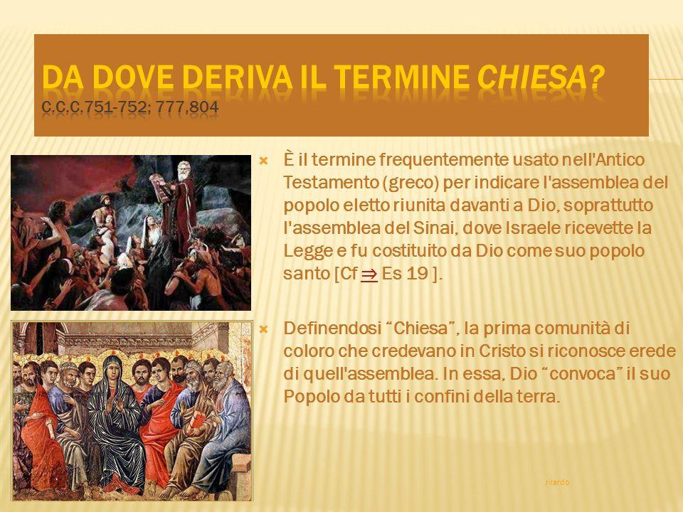 La missione della Chiesa è di annunziare e instaurare in mezzo a tutte le genti il Regno di Dio inaugurato da Gesù Cristo.