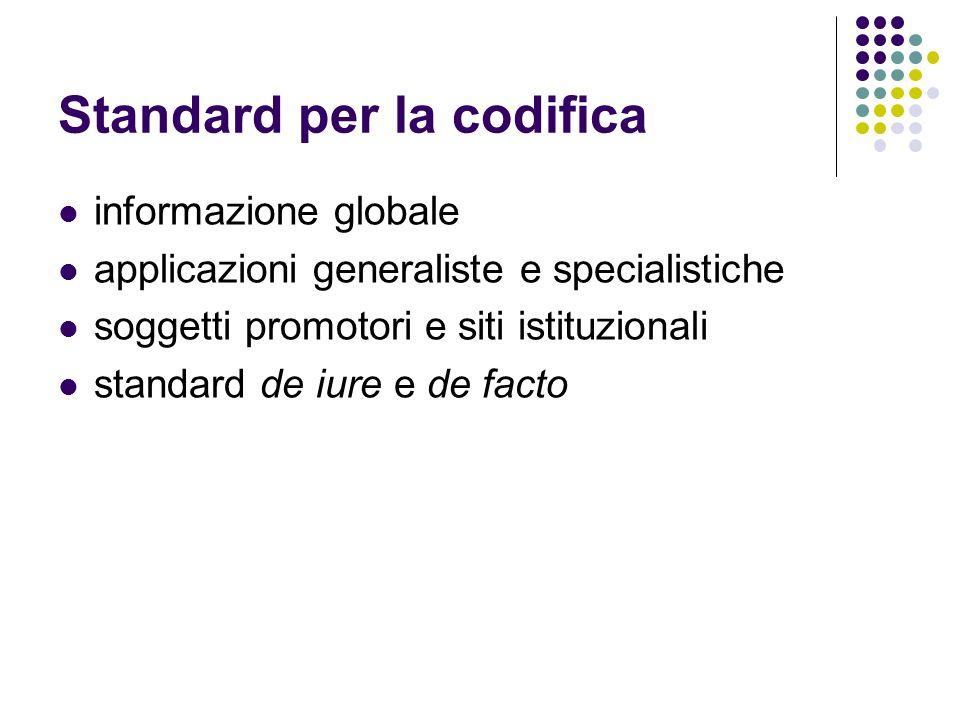 Standard internazionali il conseguimento della standardizzazione è la conseguenza dellesistenza di accordi e protocolli internazionali pubblicati come standard internazionali