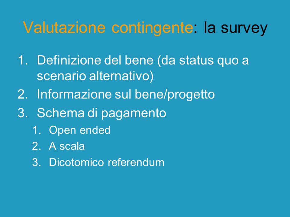 Valutazione contingente: la survey 4.