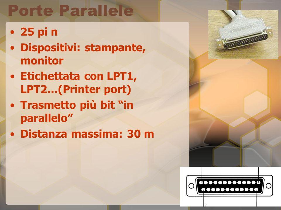 Porte SCSI Connessione di molti dispositivi in cascata o di un due dispositivi complessi (es.