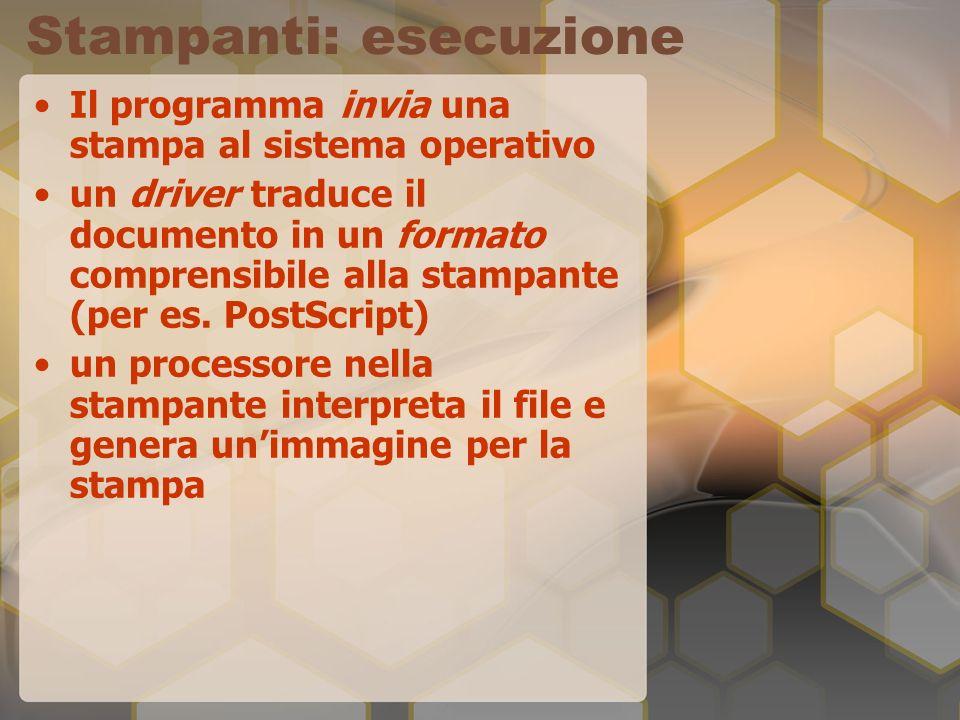 Stampanti Ad Aghi Martelletto con matrice di aghi (9-24) Basso costo Alta velocità Rumore Risoluzione povera.