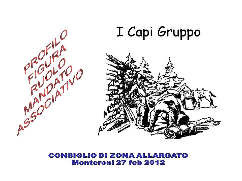 Mandato associativo La comunità Capi Art.21 statuto (art.21) i Soci adulti presenti nel Gruppo formano la Comunità Capi.