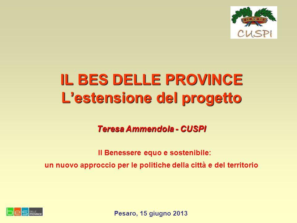 CUSPI Coordinamento Uffici di Statistica Province Italiane obiettivi prioritari: Favorire il completamento e la valorizzazione della rete degli uffici di statistica nellambito del Sistan.