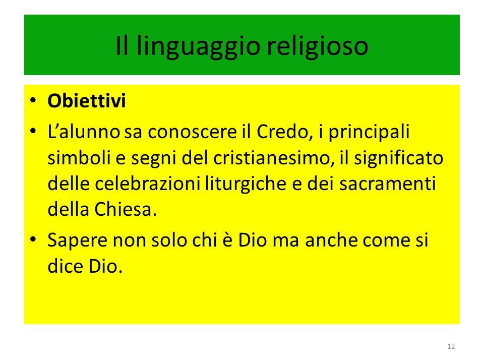 I valori etici e religiosi 13 TSC da raggiungere Lalunno sa distinguere la specificità della proposta di salvezza del cristianesimo.