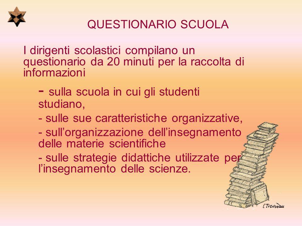 QUESTIONARIO GENITORI per la raccolta di informazioni specifiche sulleducazione scientifica degli studenti allinterno dei contesti familiari.
