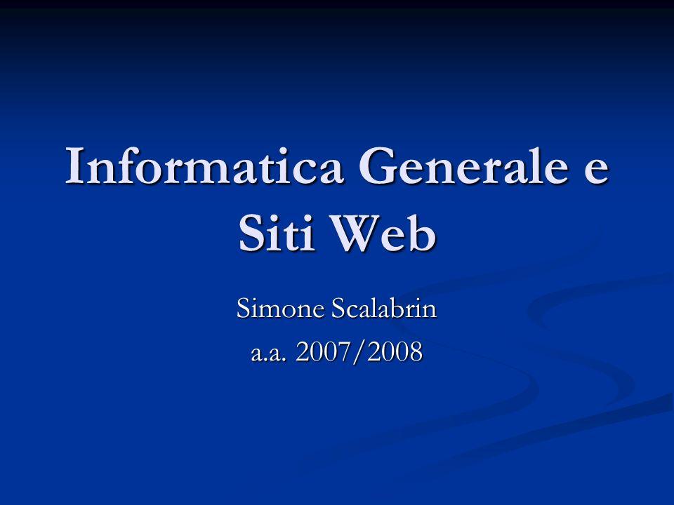 Dati del docente Home: http://www.dimi.uniud.it/~simone.scalabrin http://www.dimi.uniud.it/~simone.scalabrin 1.