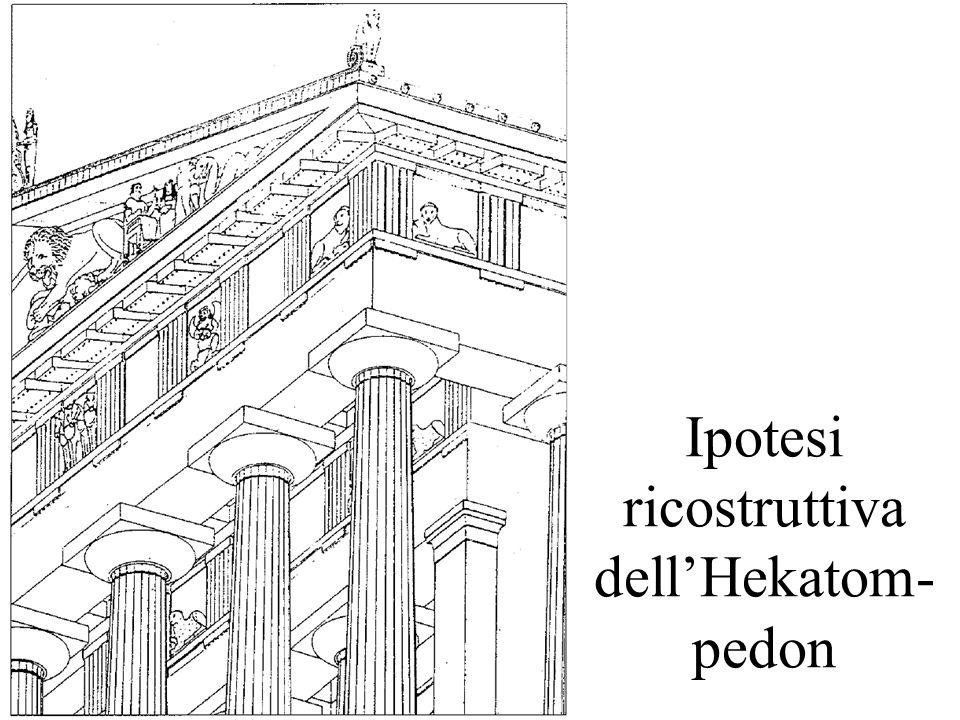Ipotesi ricostruttiva dei frontoni dellHekatom- pedon