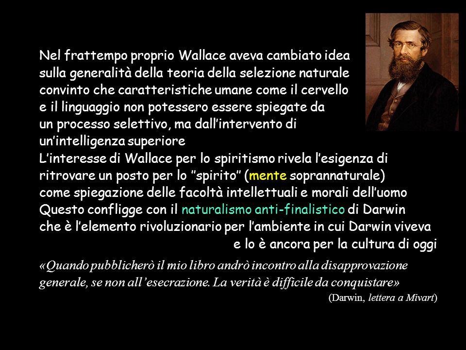 Il naturalismo di Darwin «Platone dice nel Fedone che le nostre''idee necessarie'' derivano dalla preesistenza dell'anima e non sono originate dall'esperienza.