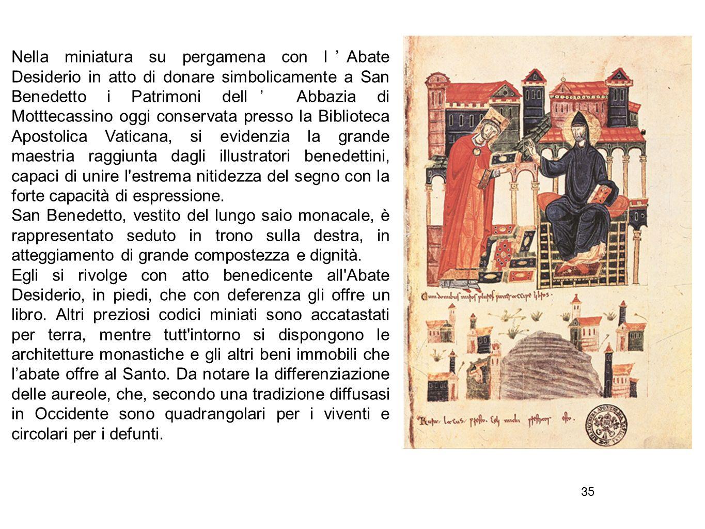 36 In Italia l influenza greco-bizantina si avvertì più che altrove e fu più difficile liberarsi degli astratti schematismi imposti da quella tradizione.