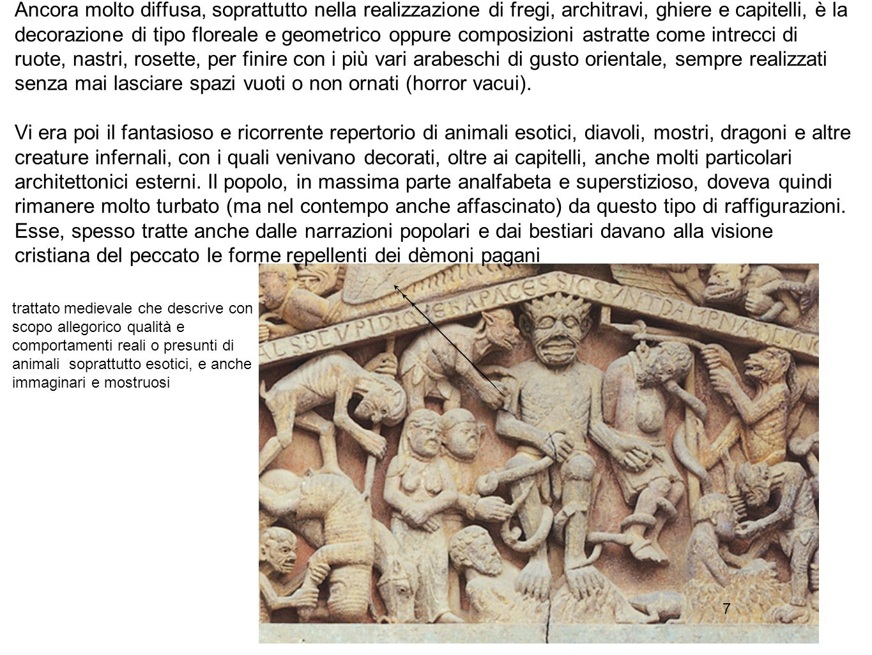 88 Dal punto di vista stilistico la scultura romanica inverte quasi tutte le regole della precedente tradizione bizantina.