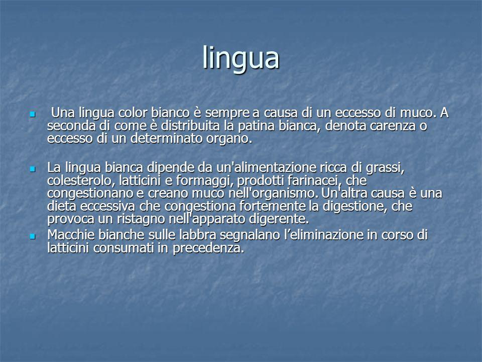 lingua Una lingua è eccessivamente rosa pallido è quasi sempre deficit del sangue e della circolazione.
