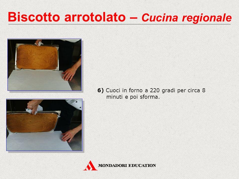 7) Una volta tolta la carta, la pasta per biscotto arrotolato è pronta per essere impiegata nella preparazione di un dessert come, per esempio, la mousse alla pera o il tronchetto di Natale.