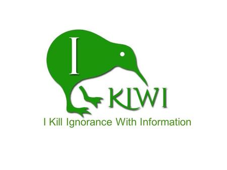 I Kill Ignorance With Information