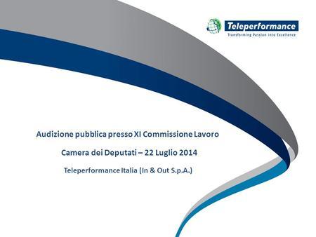 1 milano 19 giugno 2008 valtur ed il no profit 2 il core for Commissione lavoro camera