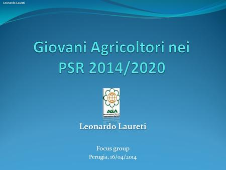 Leonardo Laureti Focus group Perugia, 16/04/2014.