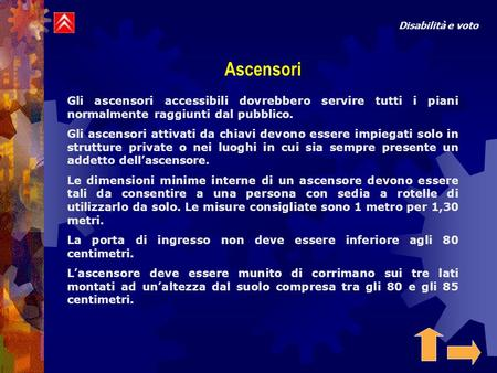 Disabilità e voto Ascensori