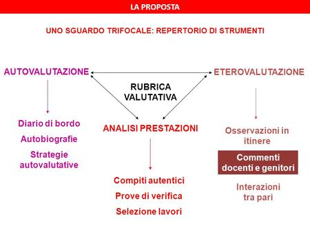 Strategie autovalutative ANALISI PRESTAZIONI Osservazioni in itinere