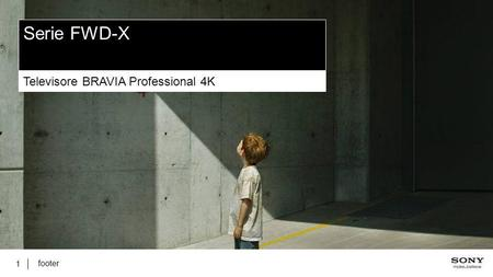 Serie FWD-X Televisore BRAVIA Professional 4K footer.
