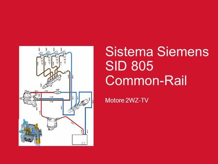 Sistema Siemens SID 805 Common-Rail Motore 2WZ-TV.
