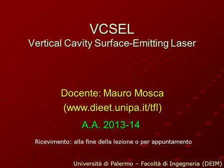VCSEL Vertical Cavity Surface-Emitting Laser
