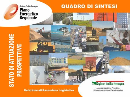QUADRO DI SINTESI Relazione all'Assemblea Legislativa.