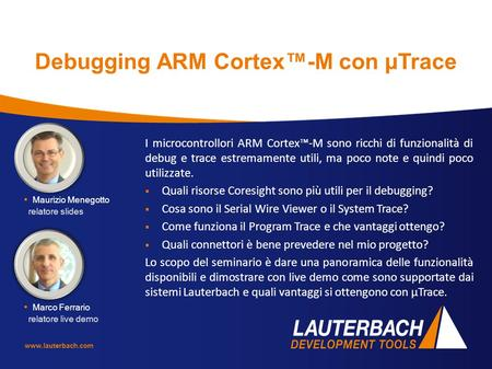 Debugging ARM Cortex™-M con µTrace
