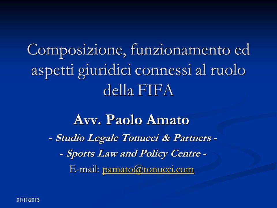 01/11/2013 Parte I STATUTO FIFA