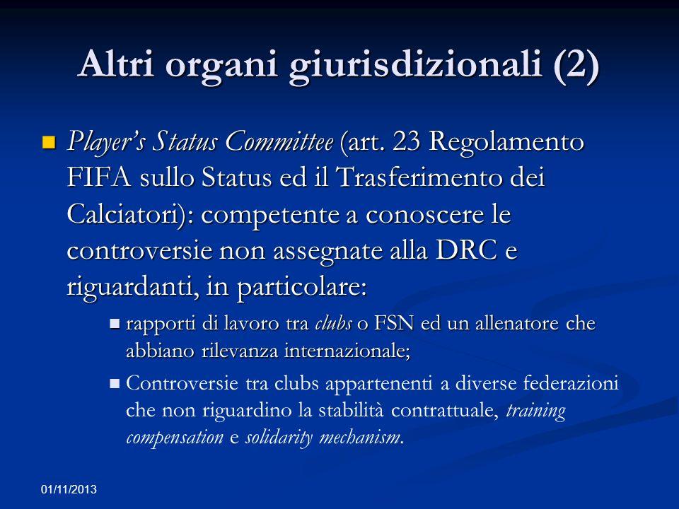 01/11/2013 Aspetti peculiari: la disciplina della doppia nazionalità degli atleti (1) Art.
