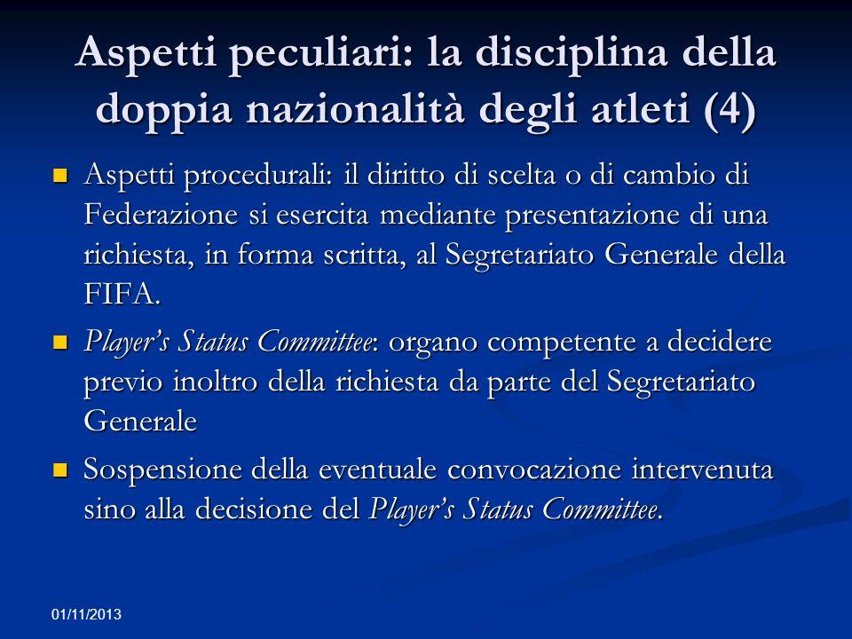 01/11/2013 Applicazione delle regole antitrust alla FIFA (1) Art.