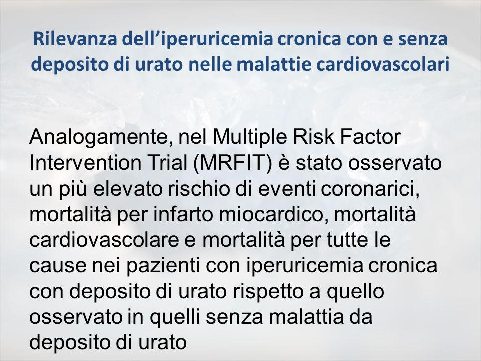 Multiple Risk Factor Intervention Trial (MRFIT) Follow up 17 anni, 9105 uomini (41-63 anni) con rischio per CHD superiore alla media, ma senza CHD durante il trial Krishnan et al.