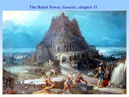 The Babel Tower, Genesis, chapter 11. A corpus-driven study of non-equivalence in the © Denise Milizia language of finance: credit or debit? © Denise.