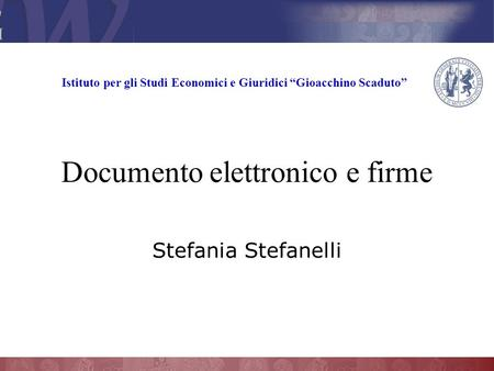 Documento elettronico e firme