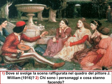di JohnWilliam Waterhouse del 1916 un trovatoresuona il suo