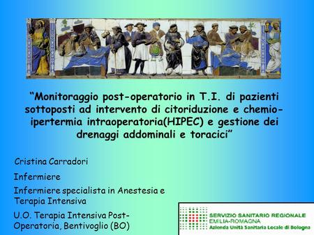 """Monitoraggio post-operatorio in T. I"