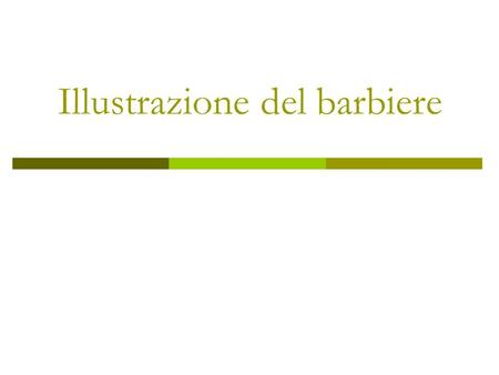 Illustrazione del barbiere