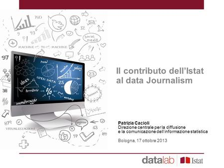 Il contributo dell'Istat al data Journalism