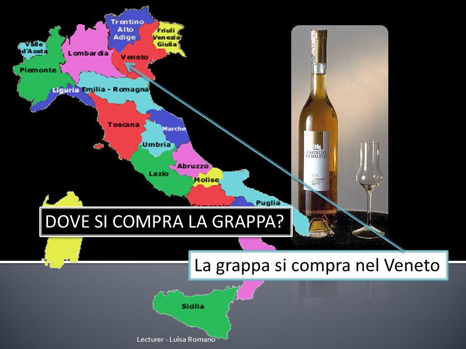 Lecturer - Luisa Romano DOVE SI COMPRA IL PARMIGIANO? Il parmigiano si compra in Emilia Romagna