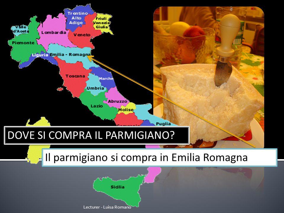 Lecturer - Luisa Romano DOVE SI COMPRA LA MOZZARELLA? La mozzarella si compra in Campania