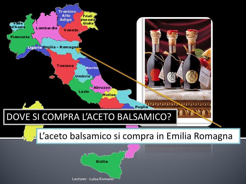 Lecturer - Luisa Romano DOVE SI COMPRA IL LIMONCELLO? Il limoncello si compra in Campania